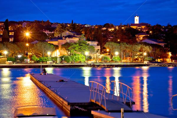 Malinska waterfront blue dawn view Stock photo © xbrchx