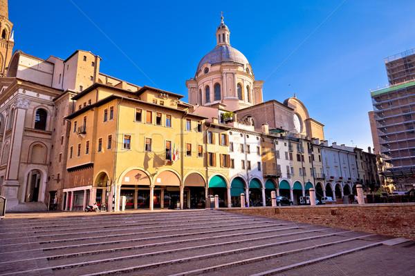 Mantova city Piazza delle Erbe view Stock photo © xbrchx