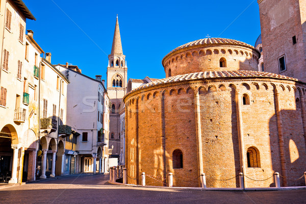 Mantova city Piazza delle Erbe view Stock photo © xbrchx