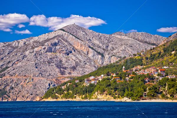 Makarska riviera turquoise coastline view Stock photo © xbrchx
