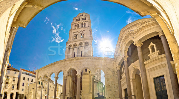 Split historic Peristil UNESCO site Stock photo © xbrchx