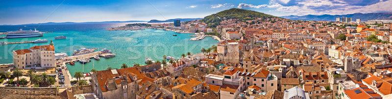 Bord de l'eau panoramique vue eau ville Photo stock © xbrchx
