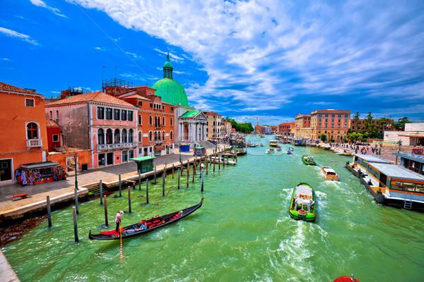 ストックフォト: 運河 · アーキテクチャ · 古い · 市 · 表示 · 水