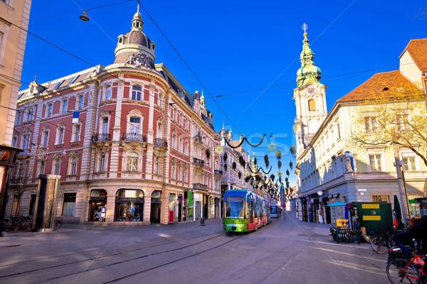 Ville Graz principale carré avènement vue Photo stock © xbrchx