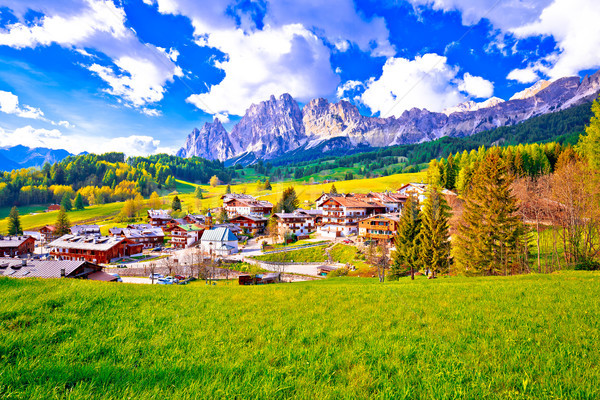 Beautiful landscape of Cortina d' Ampezzo in Dolomites Alps view Stock photo © xbrchx