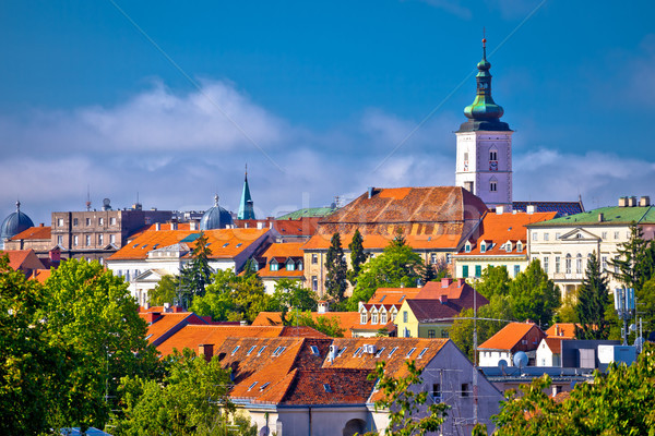 Zagreb historique ville Skyline vue ville Photo stock © xbrchx