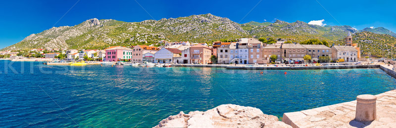 Town of Karlobag in Velebit channel panoramic view Stock photo © xbrchx
