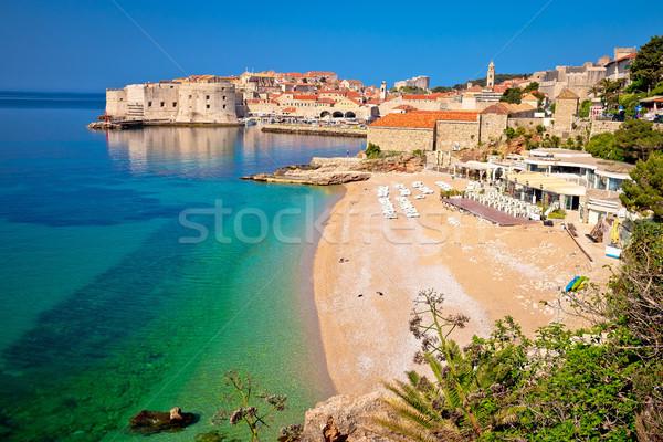 Histórico ciudad dubrovnik playa vista región Foto stock © xbrchx