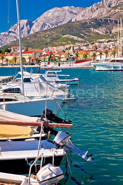 Kolorowy łodzi górskich widoku region Zdjęcia stock © xbrchx