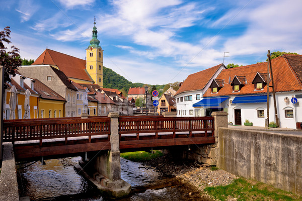 Town of Samobor river and architecture Stock photo © xbrchx