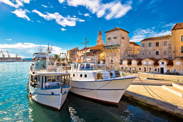 Trogir boats and waterfront view Stock photo © xbrchx
