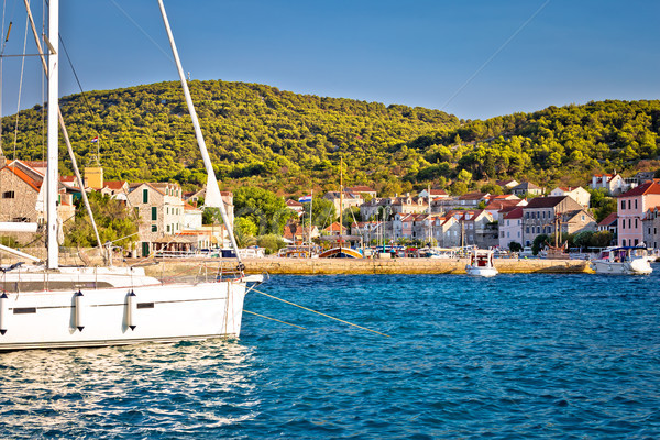 Colorful harbor of Zlarin island Stock photo © xbrchx