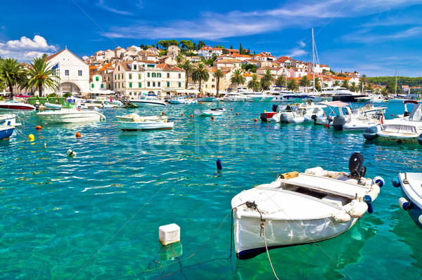 Turquoise waterfront of Hvar island Stock photo © xbrchx