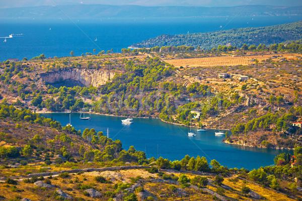 деревне острове пейзаж морем лет Сток-фото © xbrchx