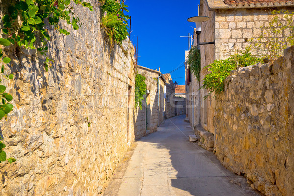 Old narrow stone street of Vis view Stock photo © xbrchx