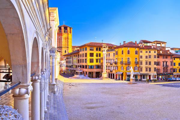 Placu widoku region Włochy ulicy zielone Zdjęcia stock © xbrchx