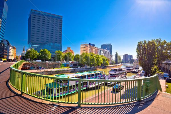 город Вена реке мнение здании Сток-фото © xbrchx