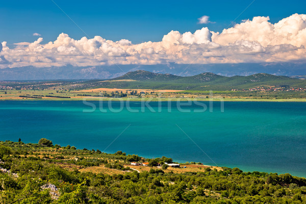 Vransko lake and landscape aerial view Stock photo © xbrchx