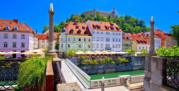 City of Ljubljana river waterfront architecture Stock photo © xbrchx