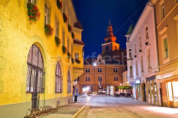 Town of Ptuj historic street evening view Stock photo © xbrchx