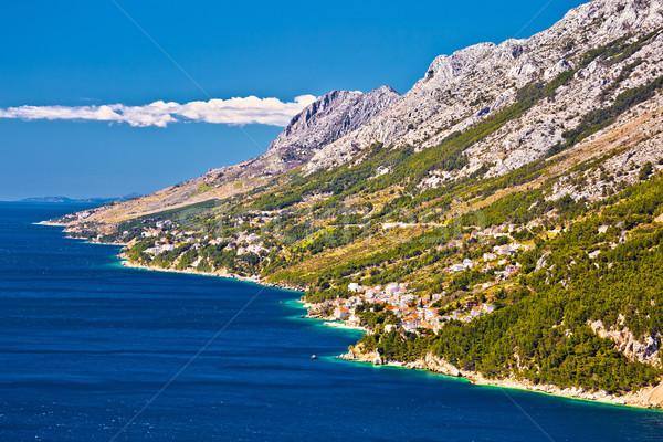 W. plaży wody morza górskich Zdjęcia stock © xbrchx