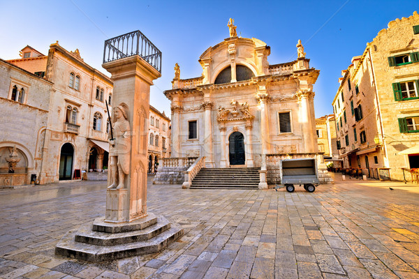Dubrovnik square historic landmarks view Stock photo © xbrchx