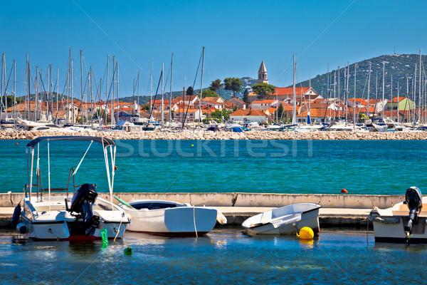 Town of Biograd Na Moru coastline view Stock photo © xbrchx