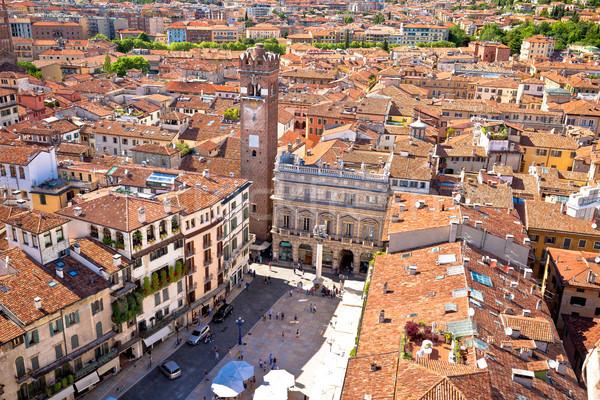 Cidade verona torre telhados cidade velha Foto stock © xbrchx