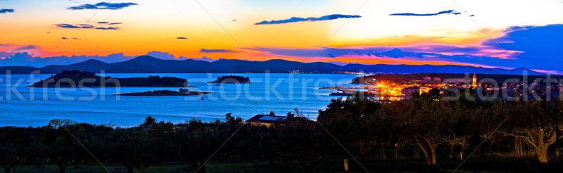 Pakostane and Pasman islands evening view Stock photo © xbrchx