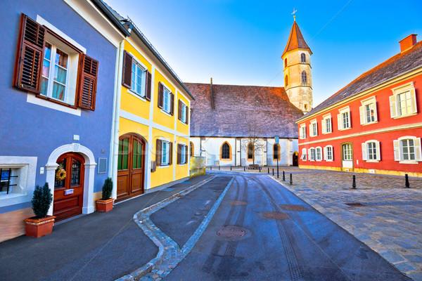 悪い カラフル ストリートビュー 地域 オーストリア 自然 ストックフォト © xbrchx
