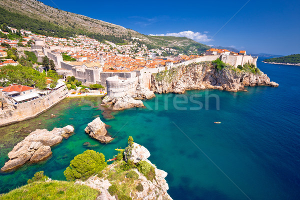 Medievale città dubrovnik noto muri colorato Foto d'archivio © xbrchx