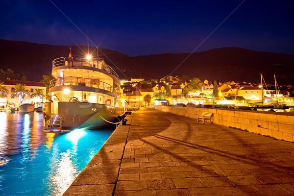 Cidade ilha porto azul hora ver Foto stock © xbrchx
