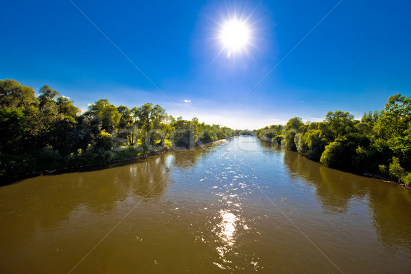 Mura river landscape and flow view Stock photo © xbrchx