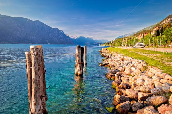 Garda lake coastline in Malcesine view Stock photo © xbrchx