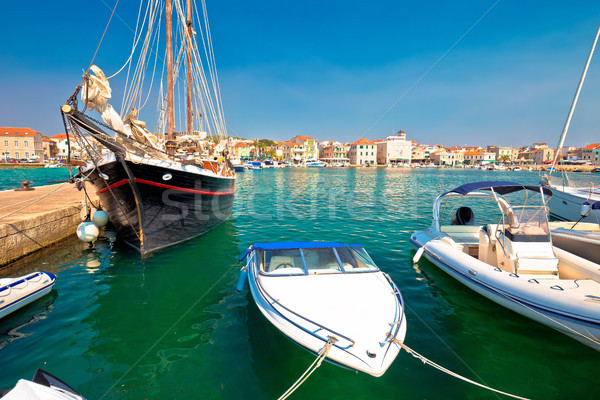 Town of Vodice waterfront pier view Stock photo © xbrchx