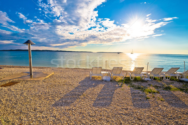 Idyllic beach near Brijuni national park sunset view Stock photo © xbrchx