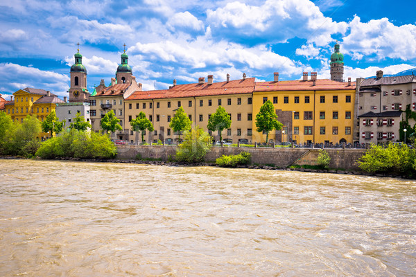 City of Innsbruck on Inn river waterfront view Stock photo © xbrchx