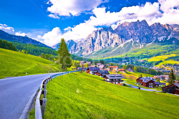 Road to Cortina d' Ampezzo in Dolomites Alps Stock photo © xbrchx