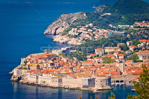 Town of Dubrovnik UNESCO world heritage site view Stock photo © xbrchx