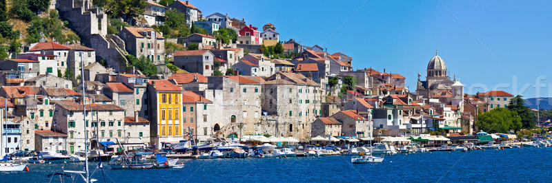 Historic UNESCO town of Sibenik panorama Stock photo © xbrchx