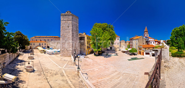 Zadar Five wells square and historic architecture panoramic view Stock photo © xbrchx