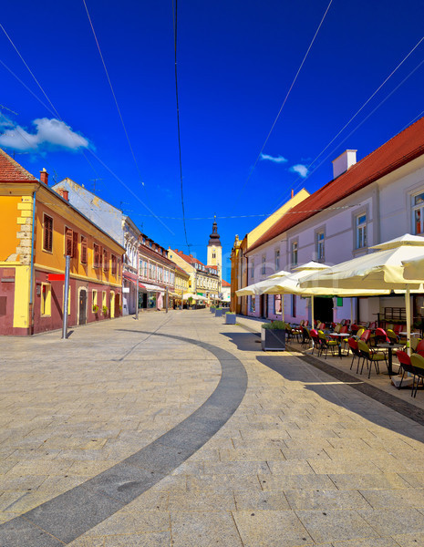 Város tér panorámakép kilátás régió Horvátország Stock fotó © xbrchx