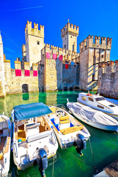 Stad entree muren regio Italië Stockfoto © xbrchx