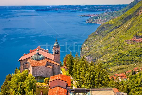 Madonna di Montecastello hermitage above Lago di Garda view from Stock photo © xbrchx