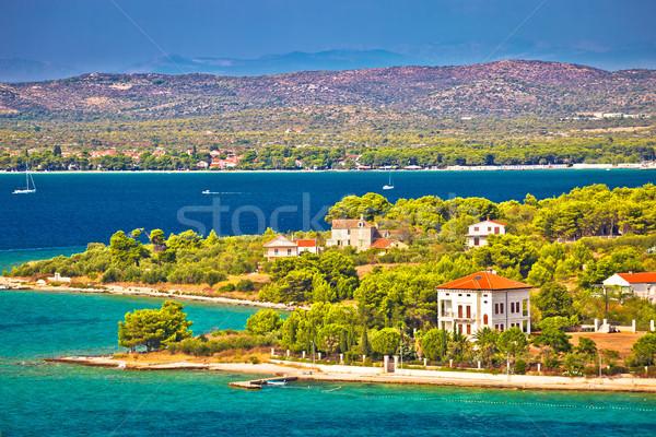 Sziget szigetvilág kilátás régió Horvátország természet Stock fotó © xbrchx