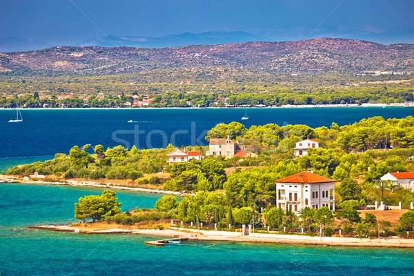 Island of Zlarin and archipelago of Sibenik view Stock photo © xbrchx