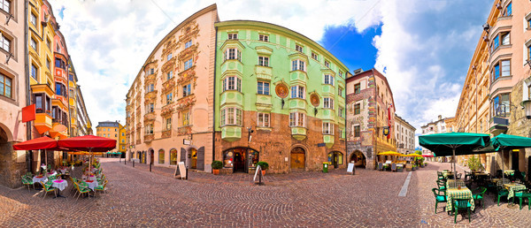Historic street of Innsbruck panoramic view Stock photo © xbrchx