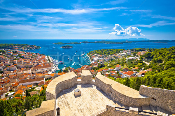 Island of Hvar and Paklinski islands view Stock photo © xbrchx