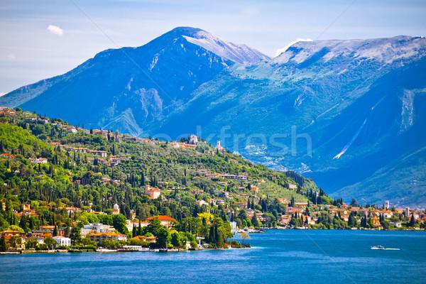 Lago di Garda near Gardone Riviera view Stock photo © xbrchx