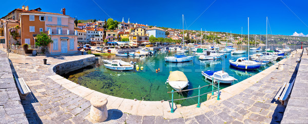 Idyllic mediterranean waterfront in Volosko village panoramic vi Stock photo © xbrchx